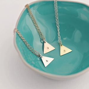Personalised Geometric Tag Necklace - contemporary jewellery