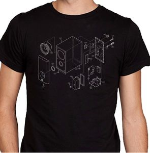 Music Speaker Diagram T Shirt - t-shirts & vests