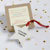 Personalised Wooden Memory Star - christmas