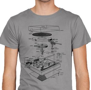 Vinyl Turntable Explosion T Shirt