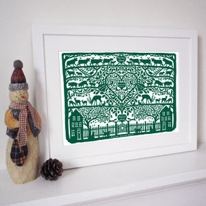 Personalised Christmas Country Heart Print
