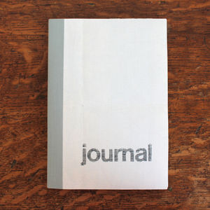 Linen Map Travel Journal Grey Original