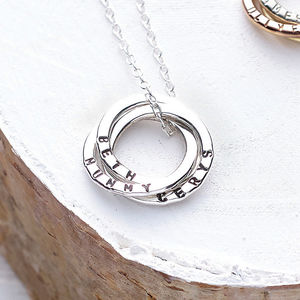 Personalised Russian Ring Necklace - best gifts for mums