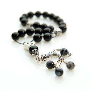 Onyx Worry Beads - men's jewellery