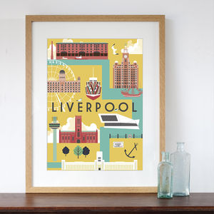 Liverpool City Art Print - posters & prints