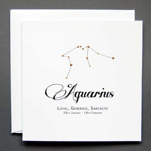 Starsign Constellation Cards