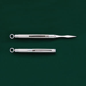 Sterling Silver Sliding Toothpick - grooming gift sets