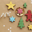 Six Colourful Xmas Cookies