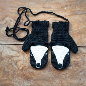 Animal Character Mittens On A String - easter clothing & fancy dress