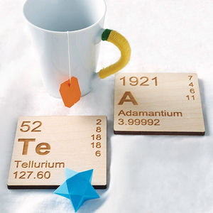 Pair Of Wooden Periodic Table Coasters - view all gifts for him