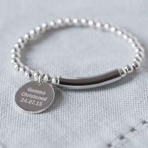 Modern Sterling Silver 925 Christening Bracelet - charms, charm bracelets & necklaces