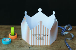 Birthday Girl Crown Card - cards
