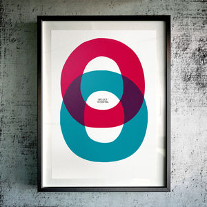 'Simple Love Of Two Round Things' Fine Art Giclée Print - contemporary art