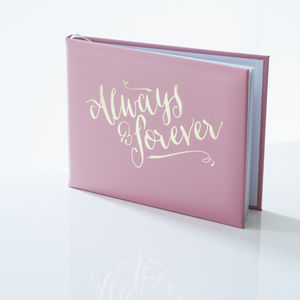 Leather 'Always And Forever' Guest Book