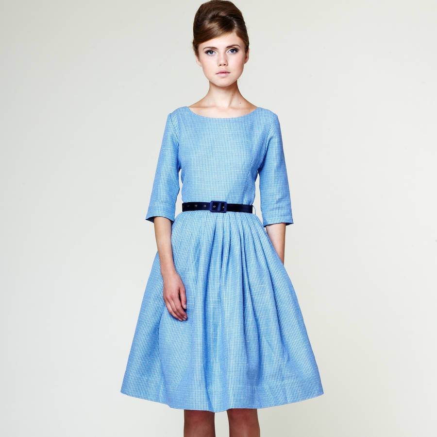 bridesmaid midi dress with full pleated skirt by mrs pomeranz ...