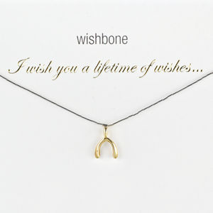A Lifetime Of Wishes Wishbone Charm Necklace