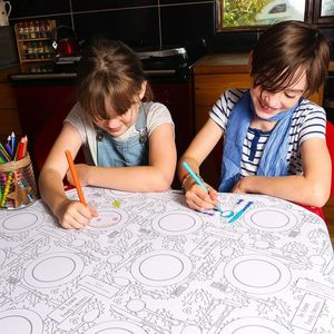 Personalised Colouring Christmas Dinner Tablecloth