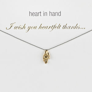 My Heartfelt Thanks Thank You Charm Necklace - jewellery sale