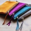 Suede Zipper Pouch Medium