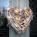 Root Heart Wreath With Pea Lights