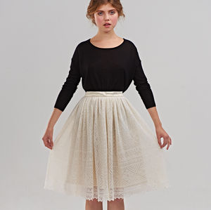 Pleated Woolen Skirt - skirts & shorts
