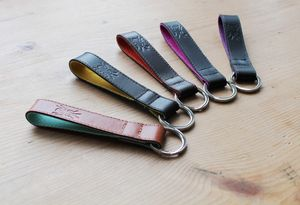 Leather Key Strap - men's accessories