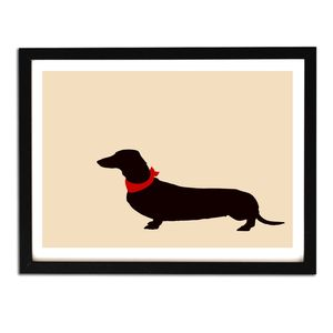 Dachshund Dog In Beige Print - pet-lover
