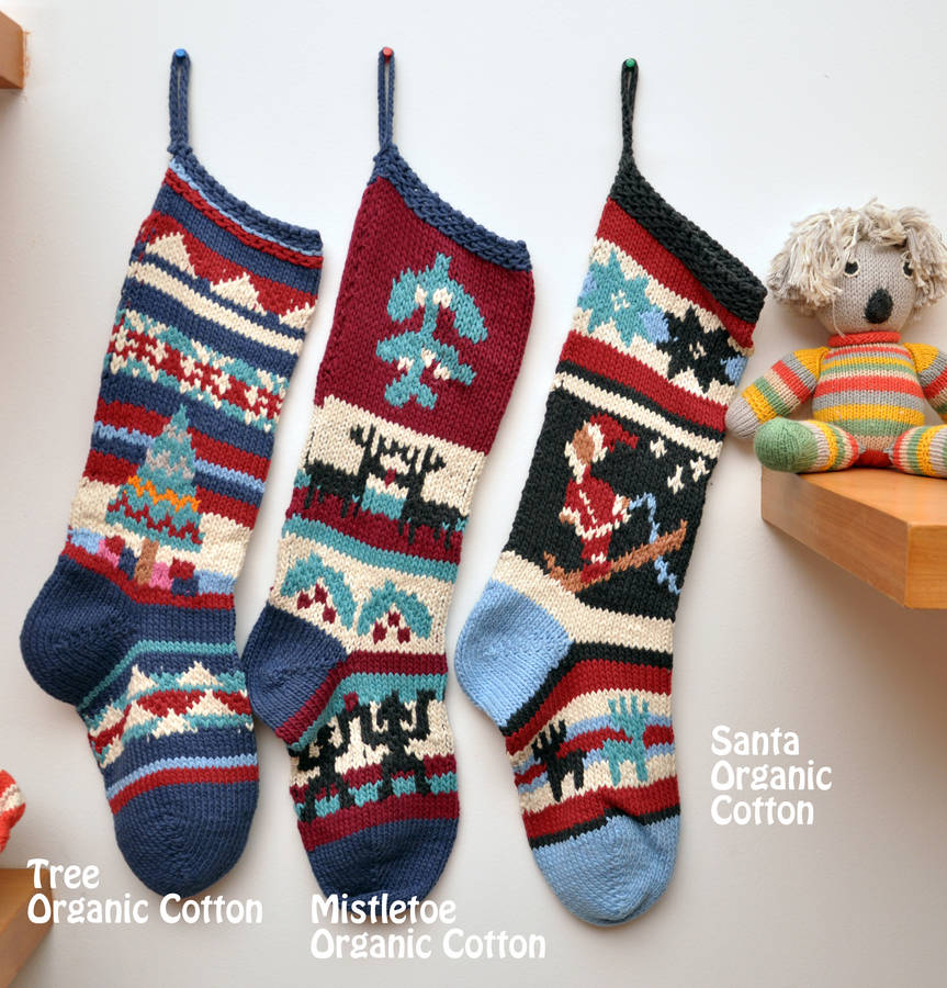 hand knitted christmas stocking by chunkichilli ...