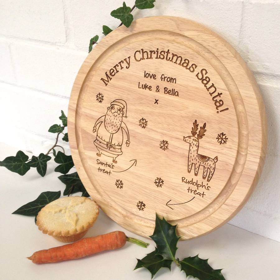 Personalised Santa S Christmas Treat Plate By Auntie Mims