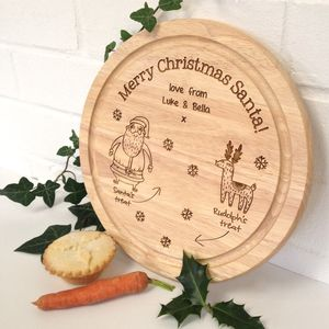 Personalised Santa's Christmas Treat Plate - view all decorations