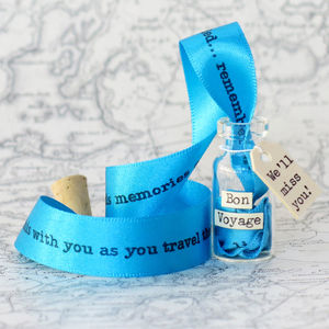 Globetrotter Message In A Bottle Travel Keepsake - leaving cards