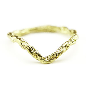 18k Gold Plated Chevron Twine Ring