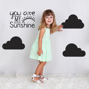 'You Are My Sunshine And Clouds Wall Stickers - wall stickers