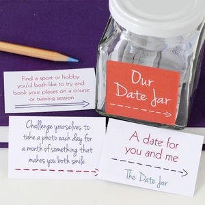 Couple's Date Jar - gifts for him
