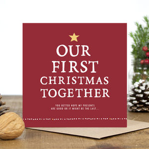 'Our First Christmas Together' Christmas Card