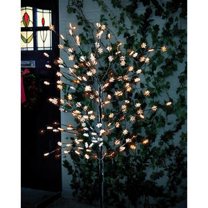 Solar Snowflake Tree With 180 LED Lights - outdoor decorations