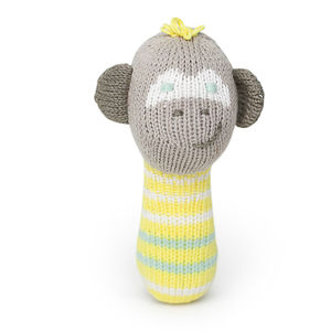 Theo The Monkey Mini Rattle
