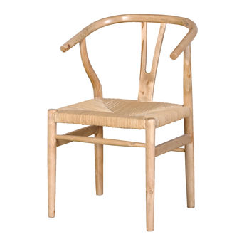 Wide Oak Dining Chair