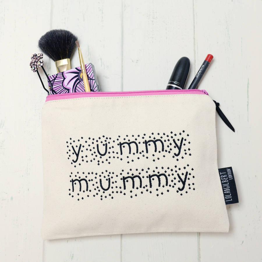 Home and Glory 'Yummy Mummy' Make Up Bag