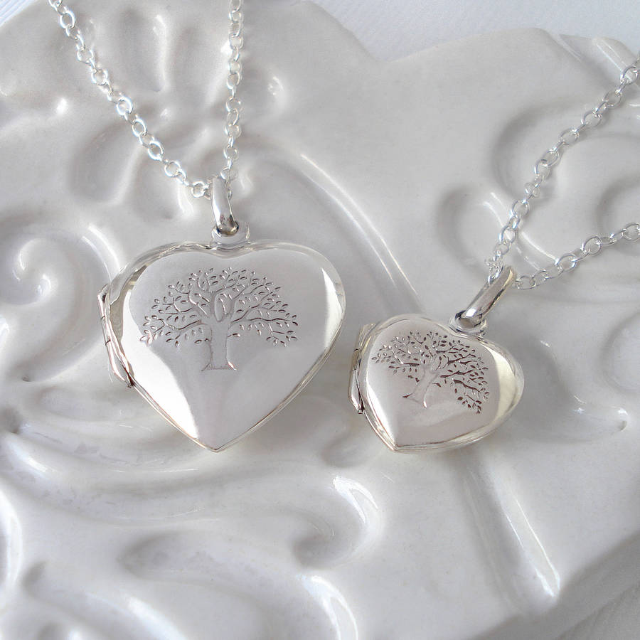 locket life silver lockets large necklace tree treelocketlg of