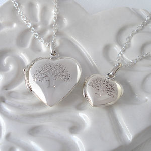 Sterling Silver Tree Of Life Heart Locket - necklaces & pendants