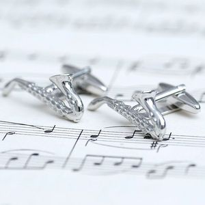 Personalised Saxophone Cufflinks
