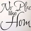 'No Place Like Home' Wall Sticker