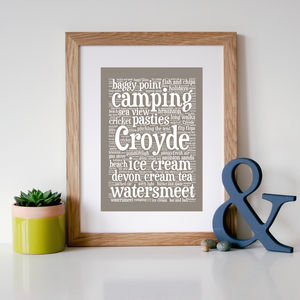 Personalised 'Favourite Places' Word Art Print - posters & prints