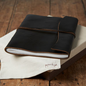 Antara Chunky Brown Leather Photo Album