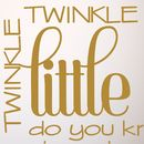 'Twinkle Little Star' Quote Wall Sticker