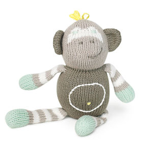 Theo The Monkey Rattle Buddy - rattles