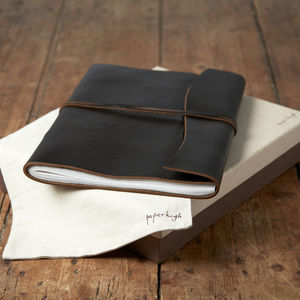 Antara Chunky Black Leather Photo Album