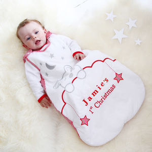 Personalised My 1st Christmas Sleeping Bag - baby's first christmas