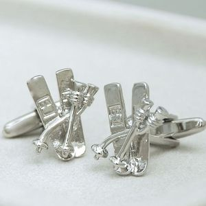 Ski Cufflinks - men's jewellery